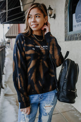 Crew Neck Bleached Graphic Sweatshirt | Stylish & Affordable | UOI Online