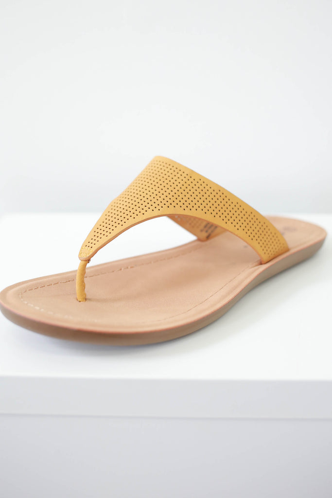 Distressed Faux Leather Sandals - Online Clothing Boutique