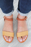 Faux Leather Flat Sandals - Online Clothing Boutique