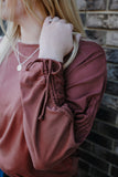 Ruched Dolman Sleeve Boat Neck Top | Stylish & Affordable | UOI Online