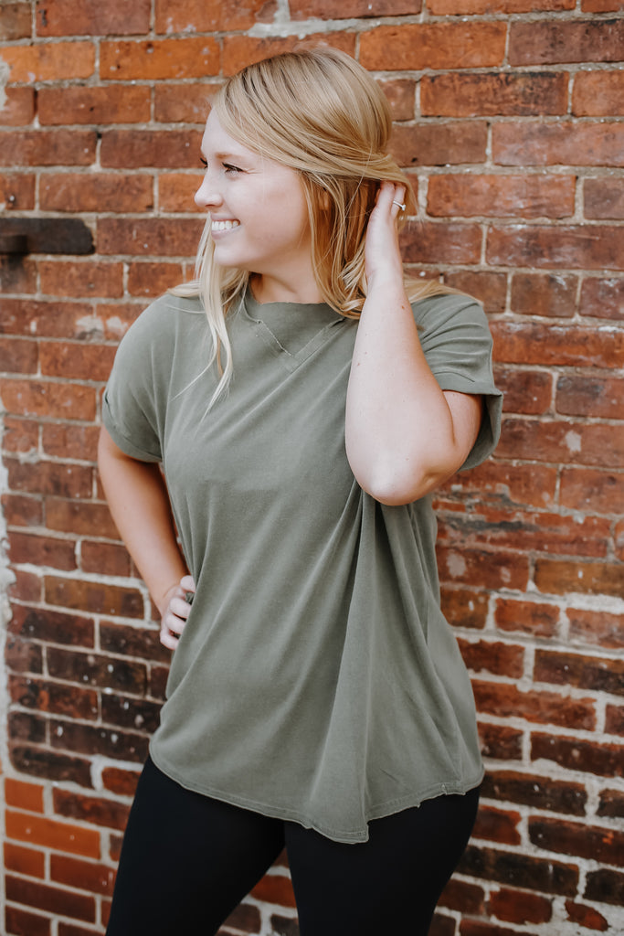 Athleisure Mineral Washed Tee | Stylish & Affordable | UOI Online