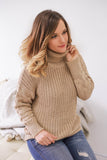 Turtleneck Cable Knit Sweater - Online Clothing Boutique