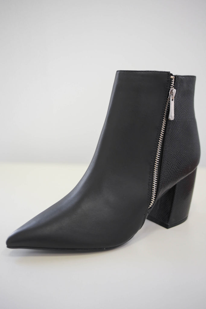 Faux Leather Pointed Toe Booties | Stylish & Affordable | UOI Online