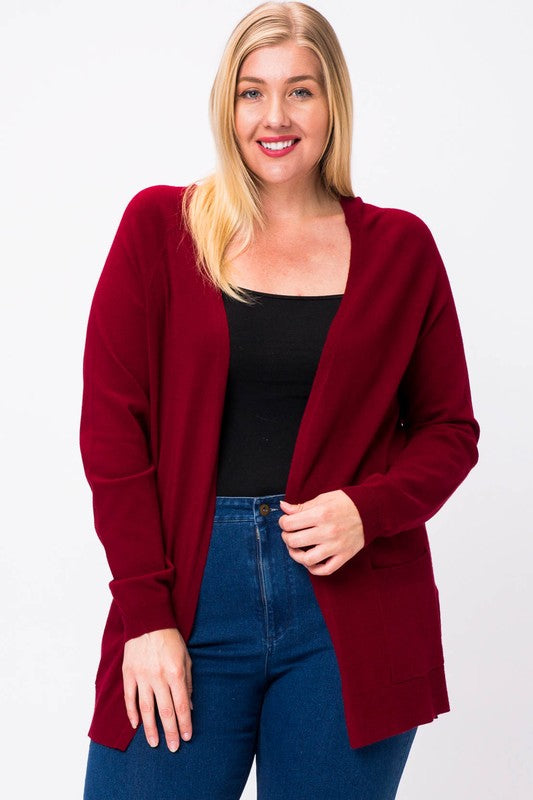 Plus Size Long Sleeve Cardigan - Online Clothing Boutique
