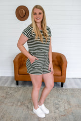 Short Sleeve Striped Romper | Stylish & Affordable | UOI Online