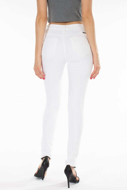Distressed White Denim - Online Clothing Boutique