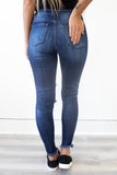 Distressed Dark Wash Denim - Online Clothing Boutique