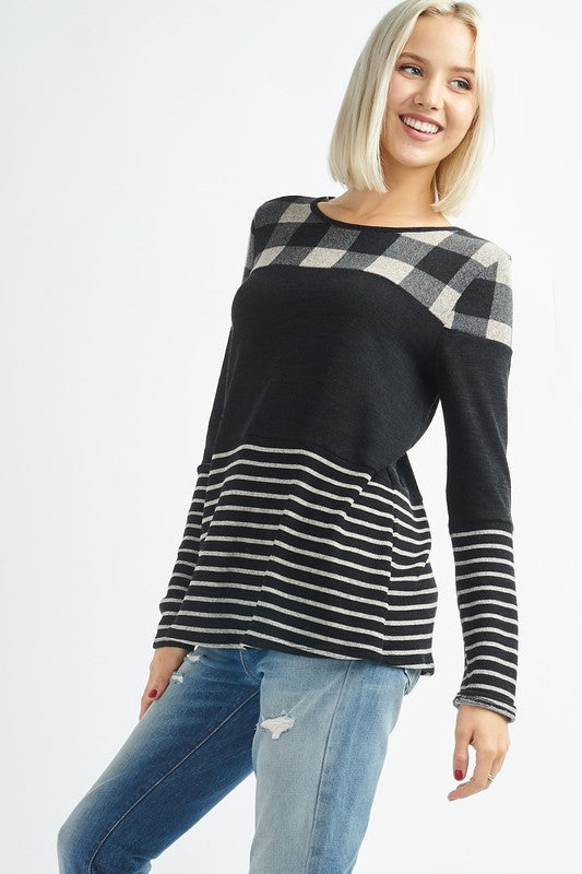 Checkered Print Top | Stylish & Affordable | UOI Online
