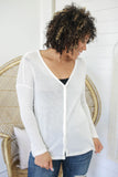 Long Sleeve Button Front Top - Online Clothing Boutique