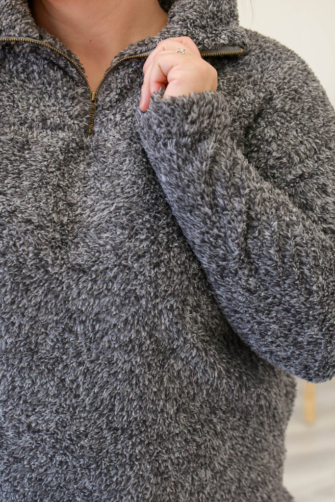 Plus Size Fuzzy Sweatshirt - Online Clothing Boutique
