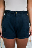 High Rise Distressed Paper Bag Waist Shorts | Stylish & Affordable | UOI Online