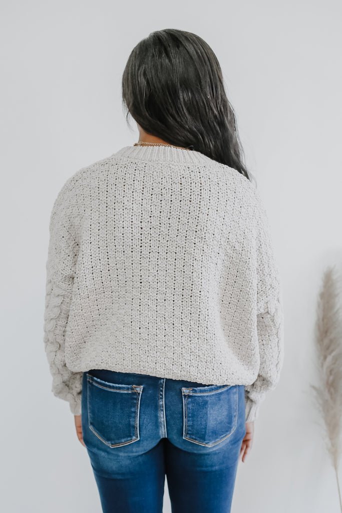 Cropped Cable Knit Sweater | Stylish & Affordable | UOI Online