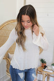 Bell Sleeve Turtleneck Top - Online Clothing Boutique