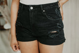 High Rise Distressed Denim Shorts | Stylish & Affordable | UOI Online