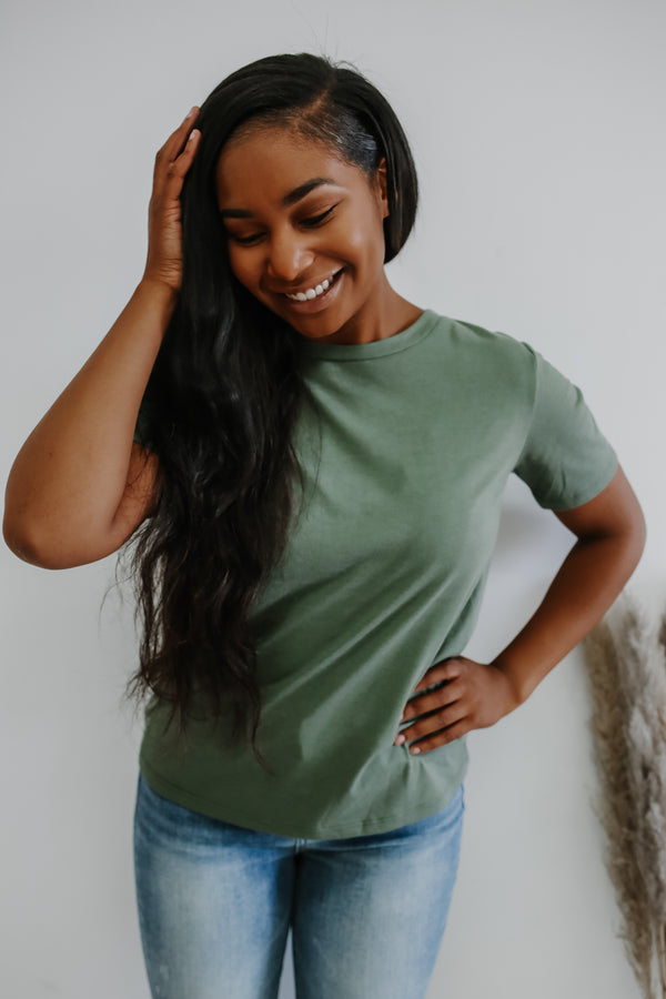 Basic Short Sleeve Crew Neck Tee | Stylish & Affordable | UOI Online
