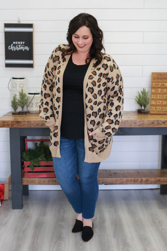 Plus Size Leopard Print Cardigan | Stylish & Affordable | UOI Online