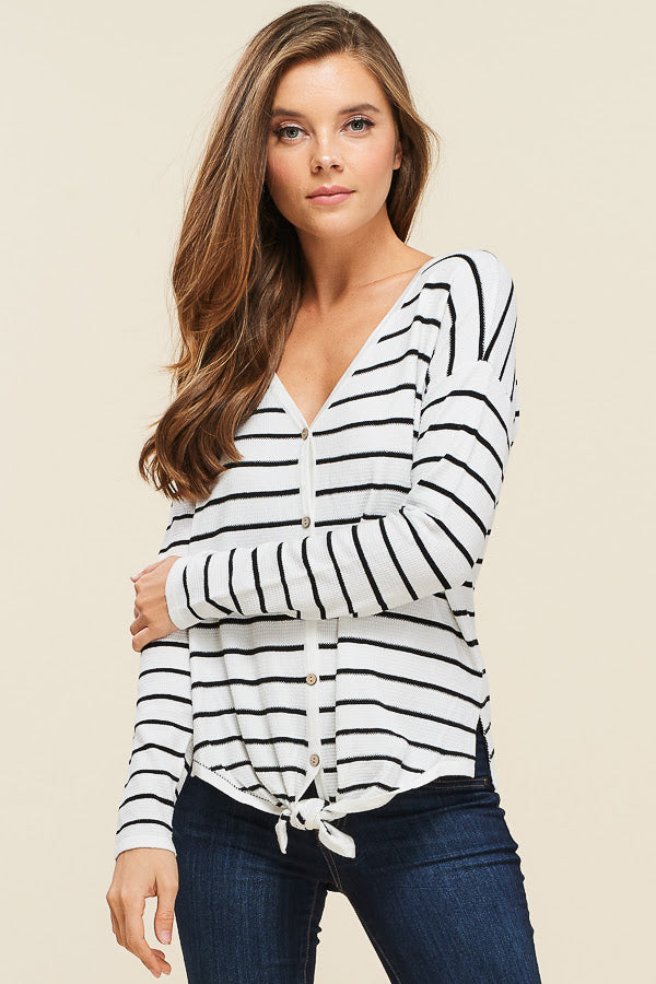 Thermal V-Neck Top - Online Clothing Boutique