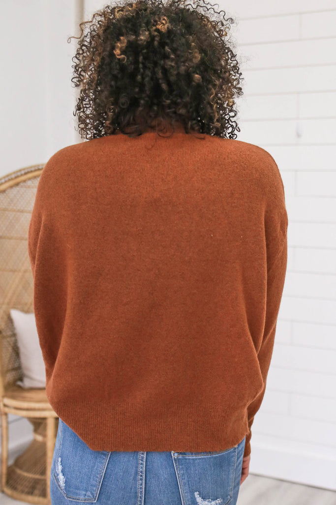 Turtleneck Knit Sweater - Online Clothing Boutique