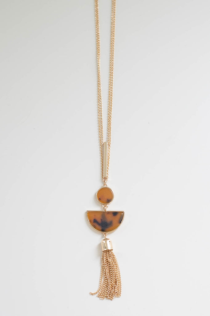 Faux Stone Necklace - Online Clothing Boutique
