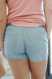 Chambray Shorts - Online Clothing Boutique
