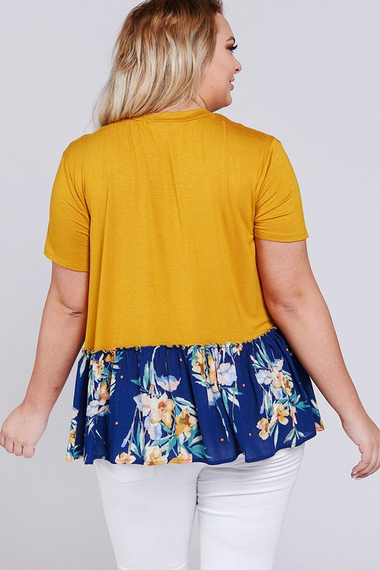 Plus Size Peplum Top - Online Clothing Boutique