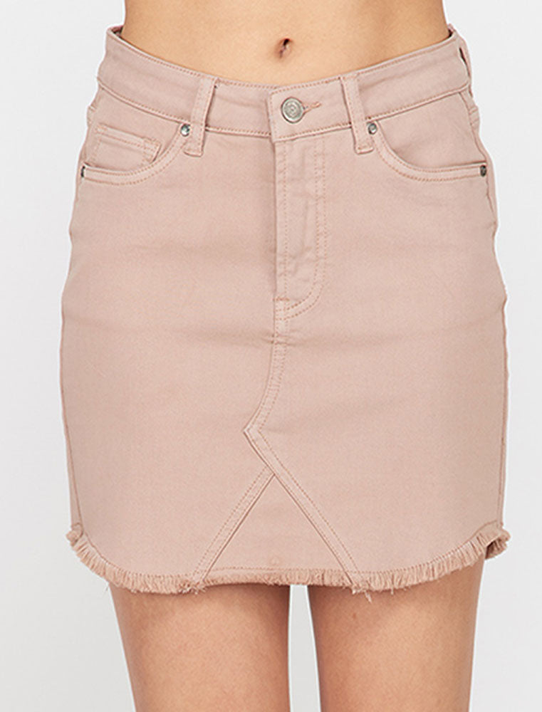 Frayed Hem Miniskirt - Online Clothing Boutique