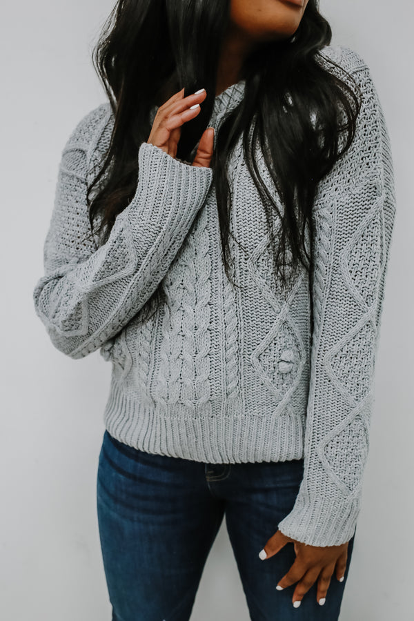 Crew Neck Cable Knit Sweater | Stylish & Affordable | UOI Online