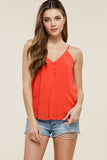 Adjustable V-Neck Tank Top - Online Clothing Boutique