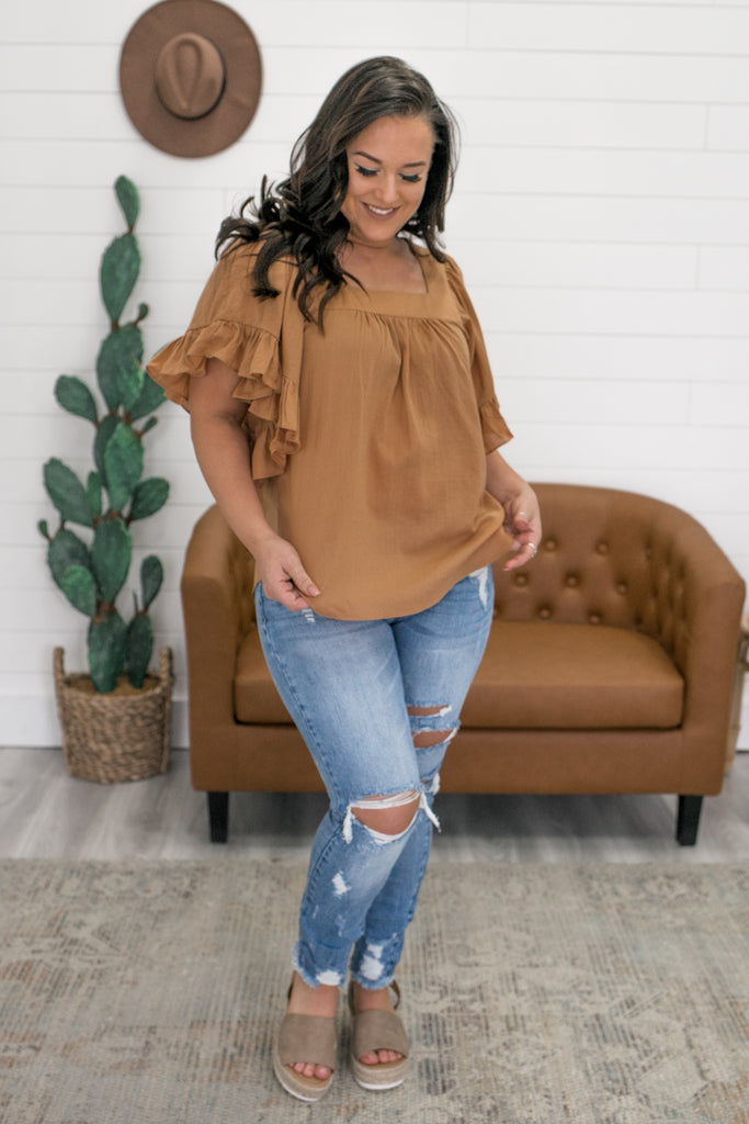 Short Sleeve Square Neck Top | Stylish & Affordable | UOI Online