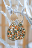 Teardrop Beaded Earrings | Stylish & Affordable | UOI Online