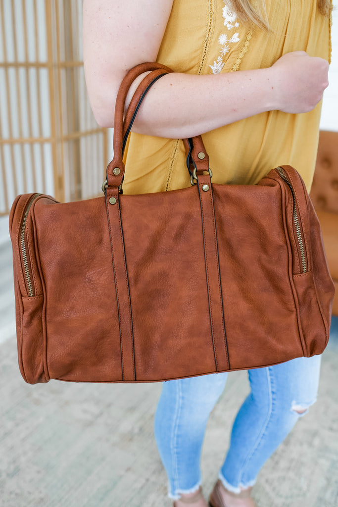 Faux Leather Duffel Bag | Stylish & Affordable | UOI Online