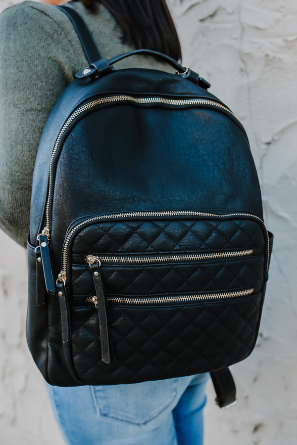 Quilted Faux Leather Backpack | Stylish & Affordable | UOI Online