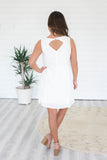 White Sleeveless Dress - Online Clothing Boutique