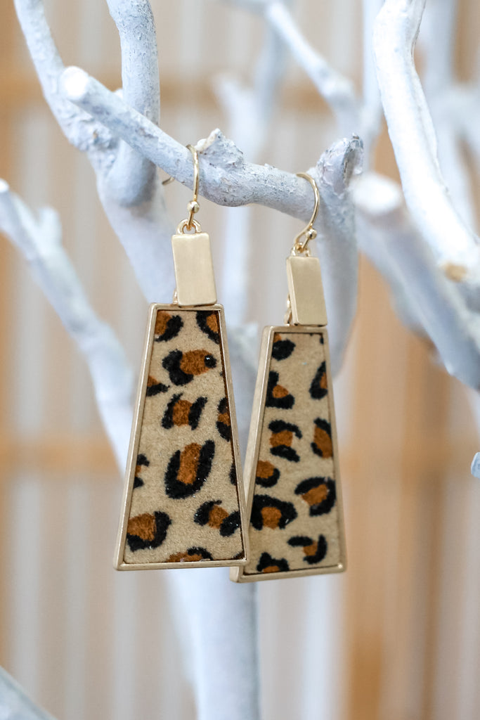 Leopard Print Pendant Earrings | Stylish & Affordable | UOI Online