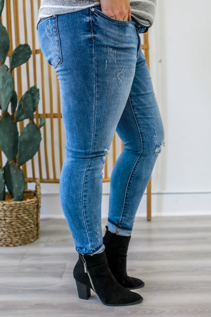 Plus Size Distressed Denim | Stylish & Affordable | UOI Online