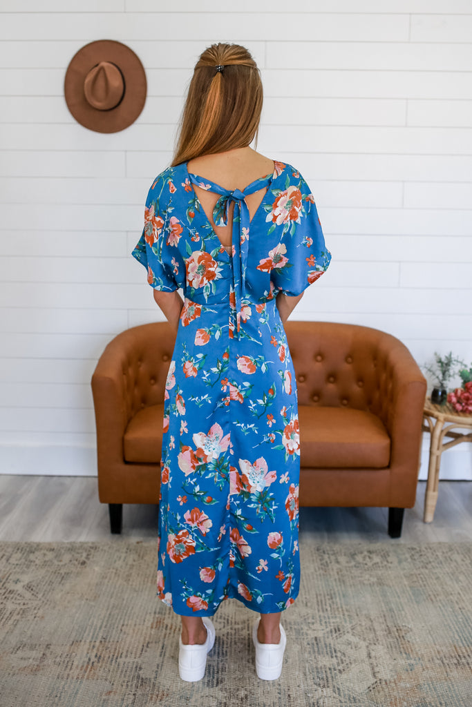 Satin Floral Maxi Dress | Stylish & Affordable | UOI Online