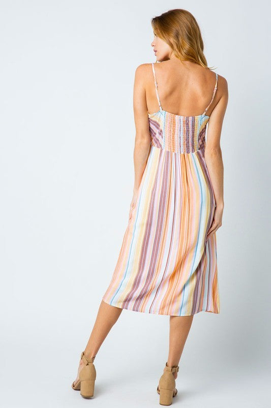 Striped Midi Dress - Online Clothing Boutique