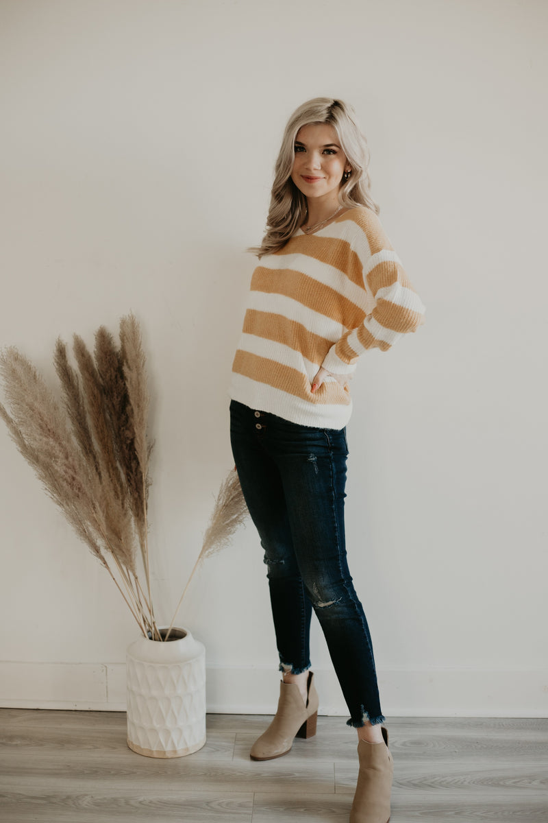 Striped Knit Sweater | Stylish & Affordable | UOI Online