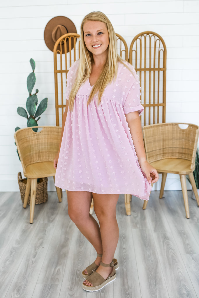 Dotted Swiss Babydoll Dress | Stylish & Affordable | UOI Online