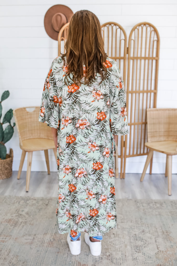 Floral Print Duster Kimono | Stylish & Affordable | UOI Online