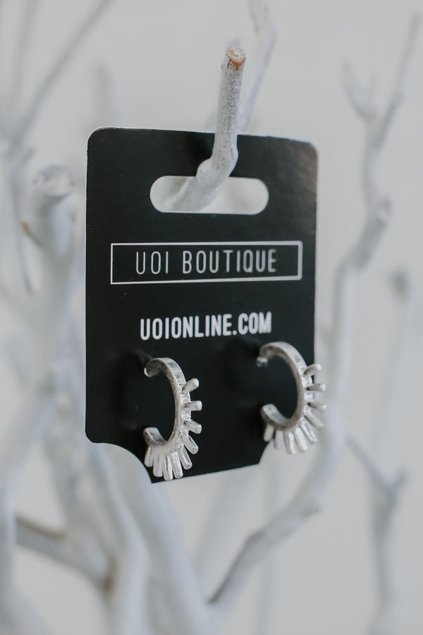 Metal Hoop Earrings | Stylish & Affordable | UOI Online
