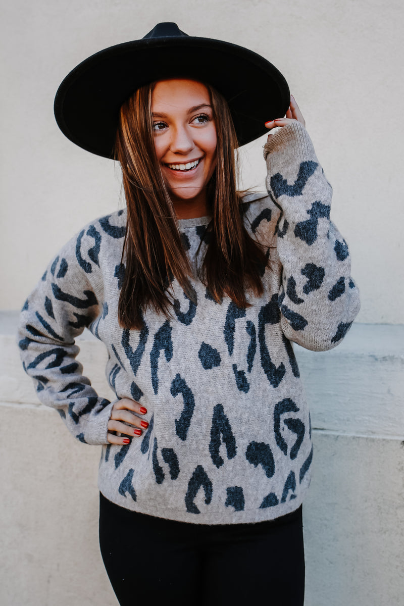 Dolman Sleeve Leopard Print Sweater | Stylish & Affordable | UOI Online