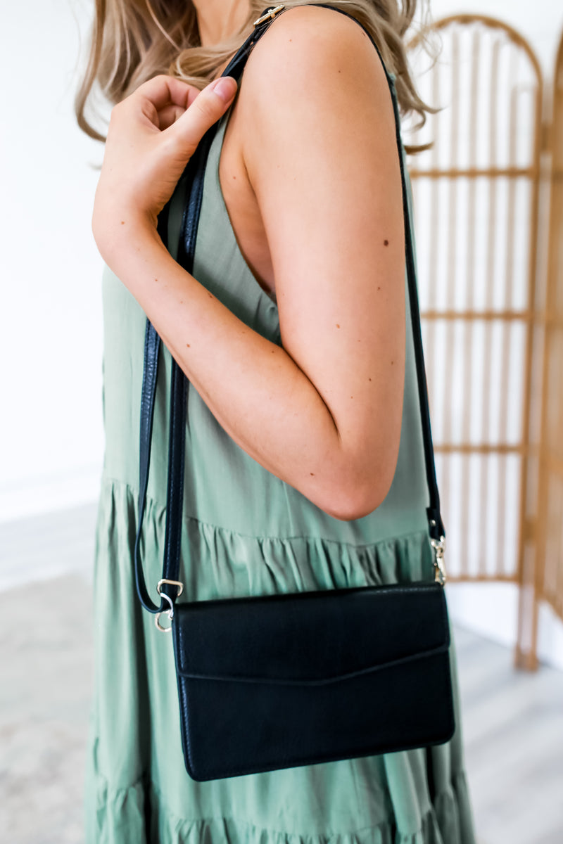 Faux Leather Phone Pocket Crossbody Bag | Stylish & Affordable | UOI Online