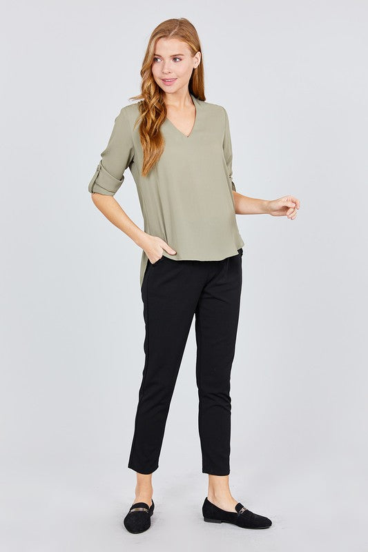 V-Neck Blouse - Online Clothing Boutique