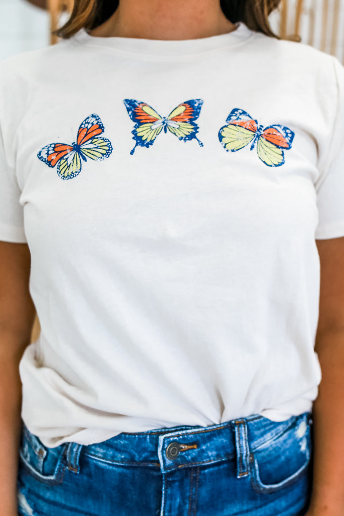 Butterfly Graphic Tee | Stylish & Affordable | UOI Online