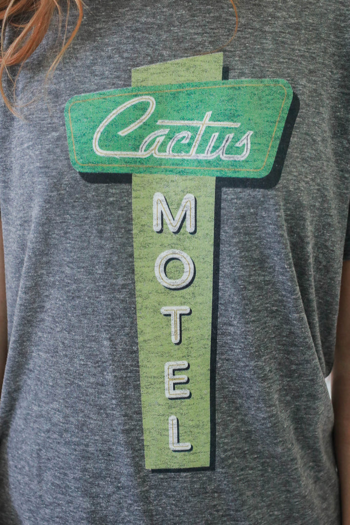 Cactus Motel Graphic Tee - Online Clothing Boutique