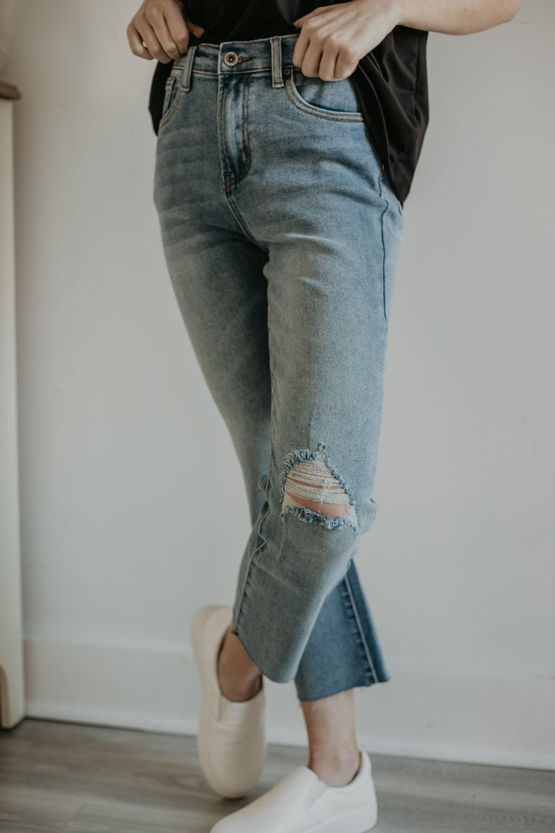 High Waisted Cropped Bootcut Denim | Stylish & Affordable | UOI Online