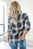 Button Down Plaid Top - Online Clothing Boutique