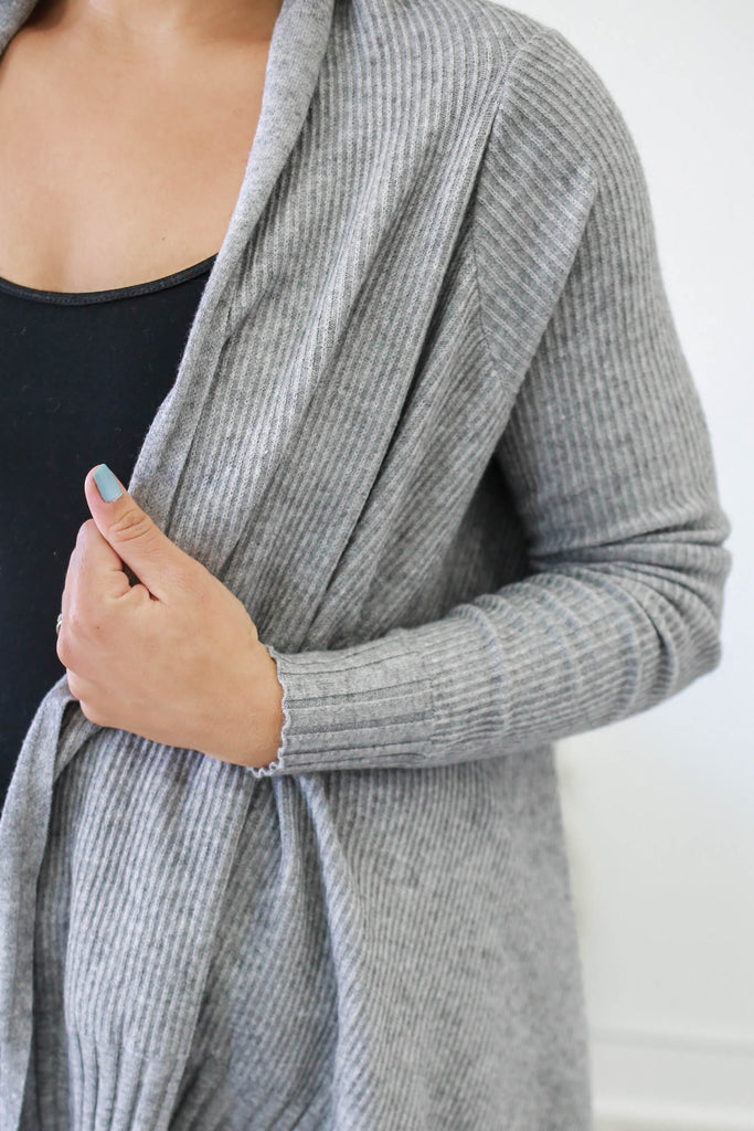 Drape Front Cardigan - Online Clothing Boutique