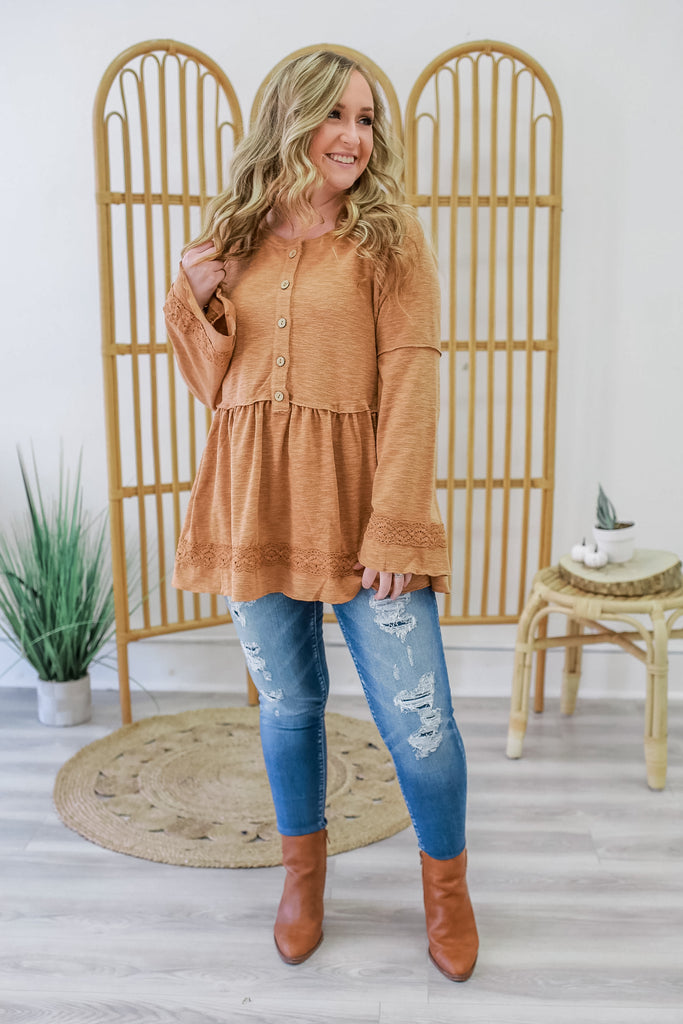 Bell Sleeve Peplum Top | Stylish & Affordable | UOI Online